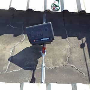 Testes de carga em pontos de ancoragem